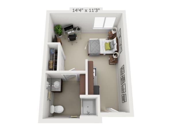 Studio floor plans at Pine Grove Crossing in Parker, Colorado