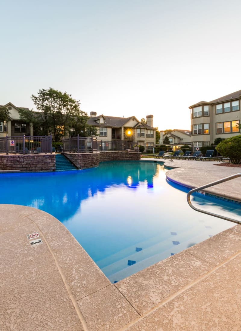 Shimmering pool at Marquis at Town Centre in Broomfield, Colorado