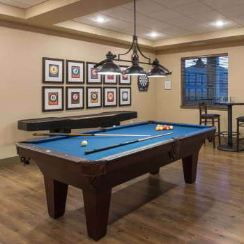 Pool table at Affinity at Ramsey in Ramsey, Minnesota