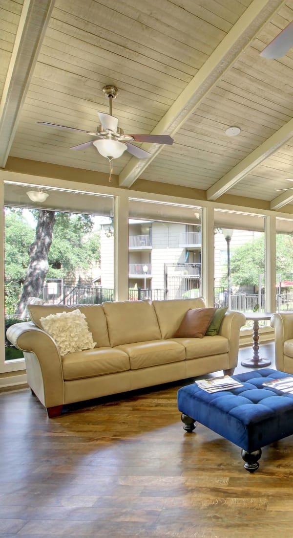 Spacious living room at Bridge at Terracina in Austin, Texas