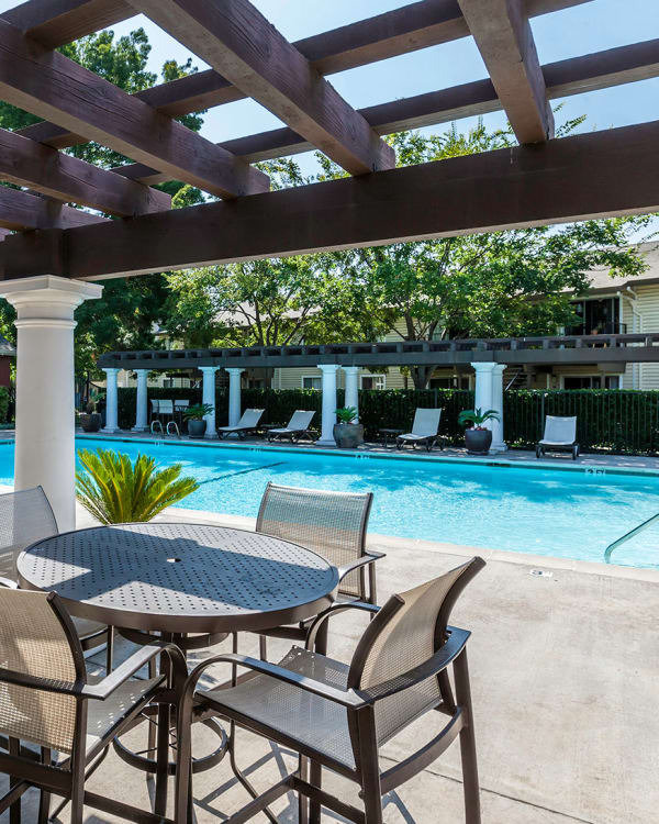 Pool at The Woodlands Apartments in Sacramento