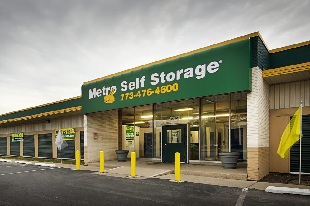 Facility entrance at Metro Self Storage in Chicago, Illinois