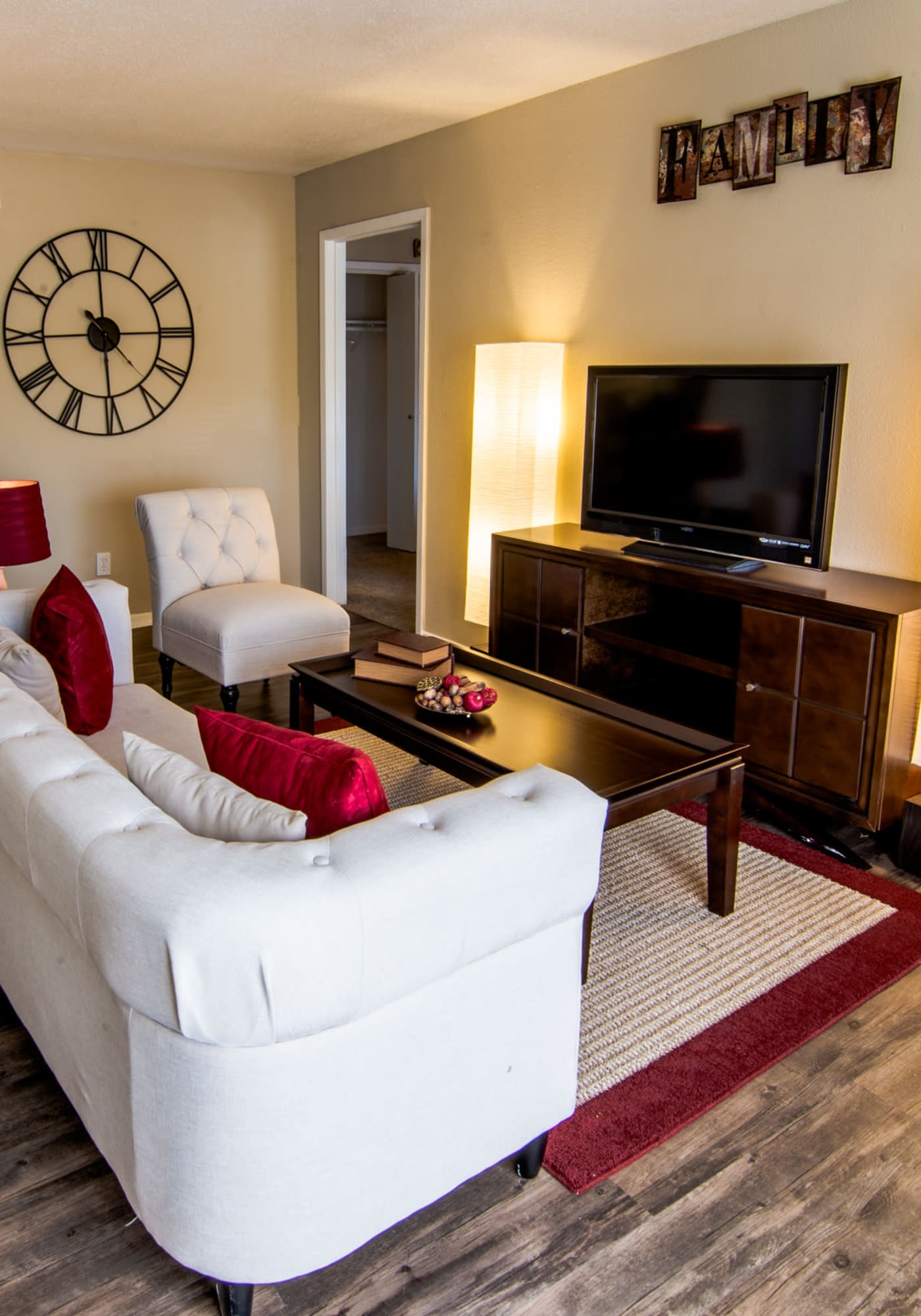 Well-lit living room at Reserve on Garth Road