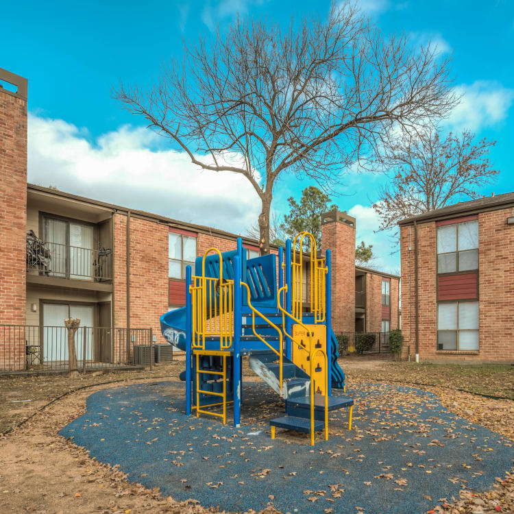 Apartments and playground at Rock Creek