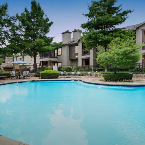 View virtual tour of our swimming pool area at Ranch ThreeOFive in Arlington, Texas