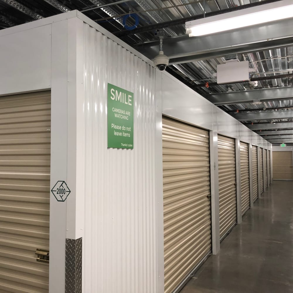 Climate controlled storage units at Cubes Self Storage in Draper, Utah