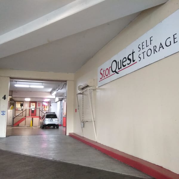 Interior of the facility at StorQuest Self Storage in Shirley, New York
