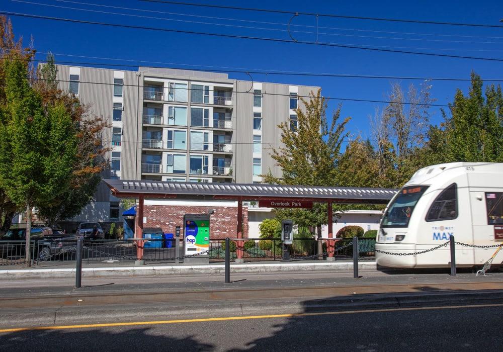 Max line near Overlook Park in Portland, Oregon