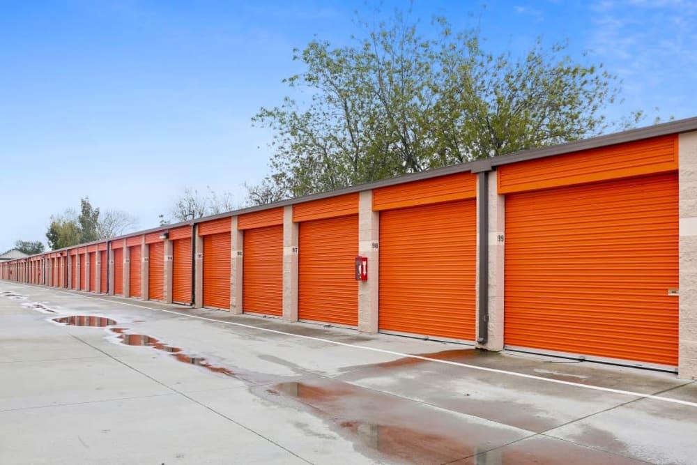 Drive-up access storage units at A-1 Self Storage in San Jose, California