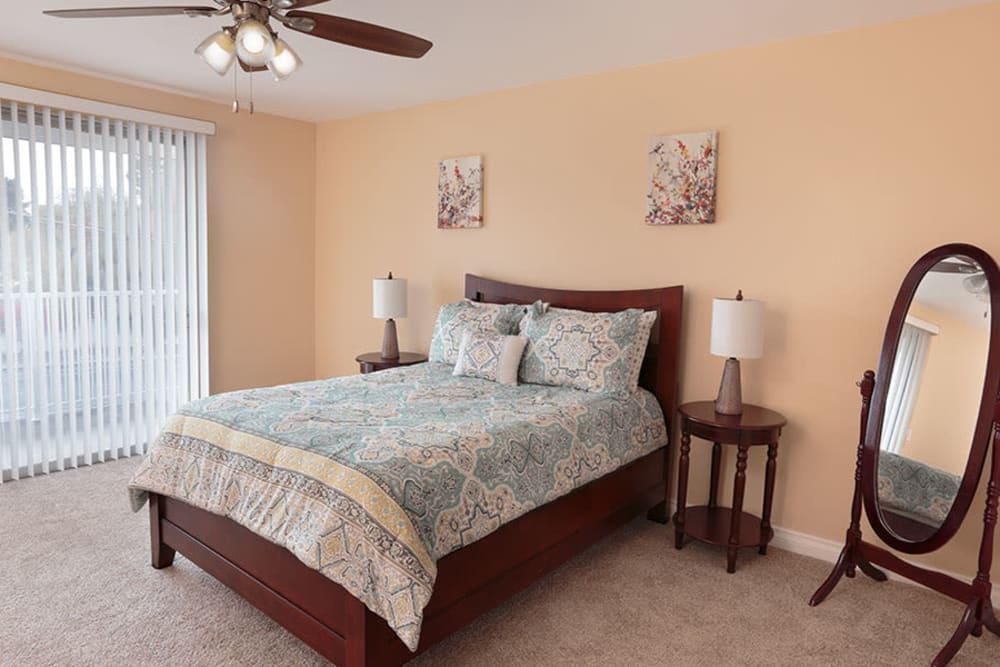 Resident bedroom at Monte Vista Village in Lemon Grove, California
