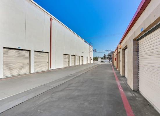 Wide driveways at A-1 Self Storage in El Monte, California