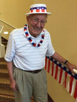 Frank, resident at The Pines, A Merrill Gardens Community in Rocklin, California.