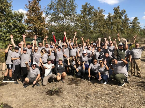 The Sequoia team at a giving back to the community event near EVIVA Midtown in Sacramento, California
