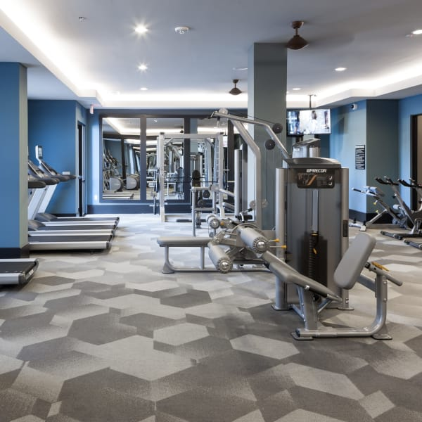 Gym area at Berkshire Amber in Dallas, Texas