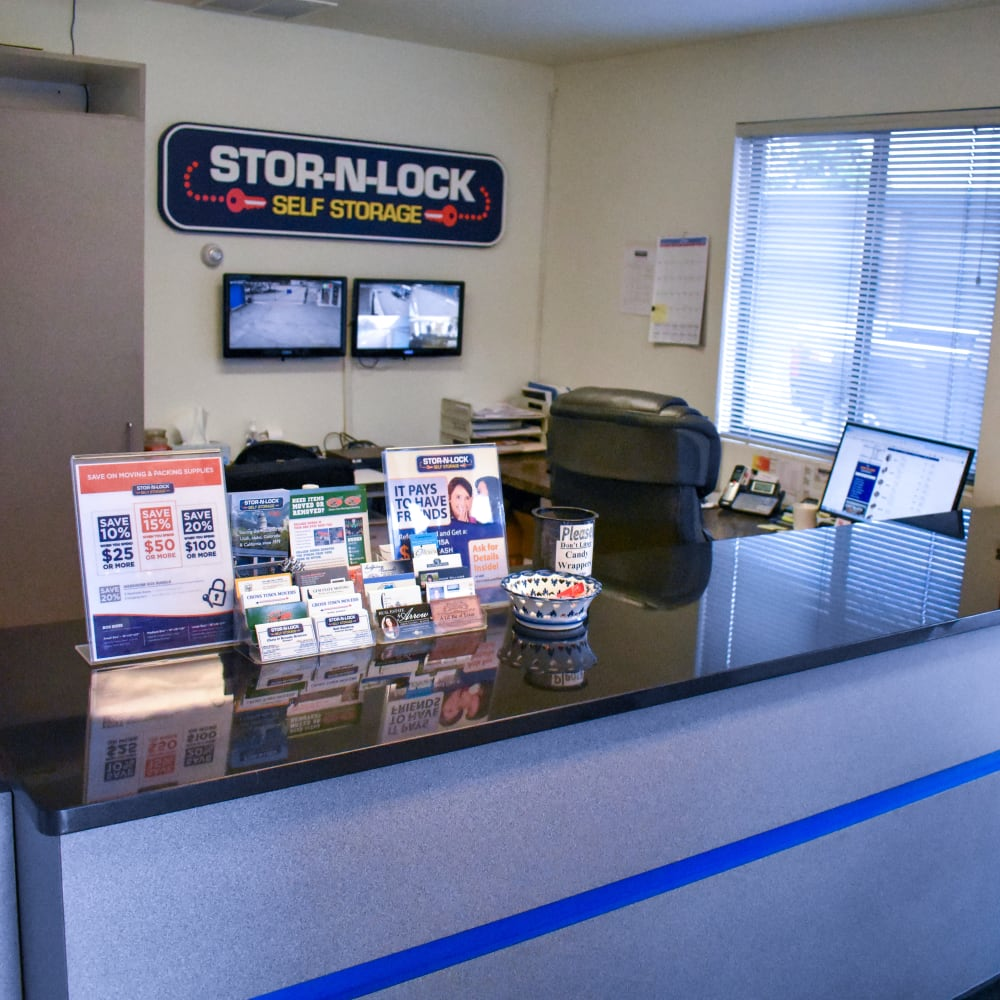 Inside the welcoming office at STOR-N-LOCK Self Storage in Boise, Idaho