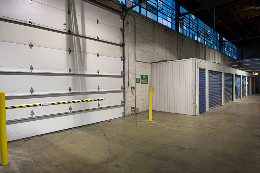 Loading dock interior view at Metro Self Storage in Chicago, Illinois