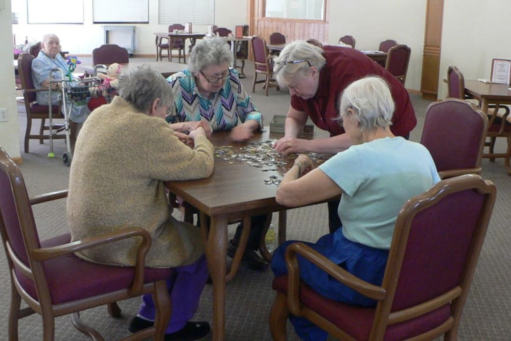 Games at Avalon Assisted Living Community