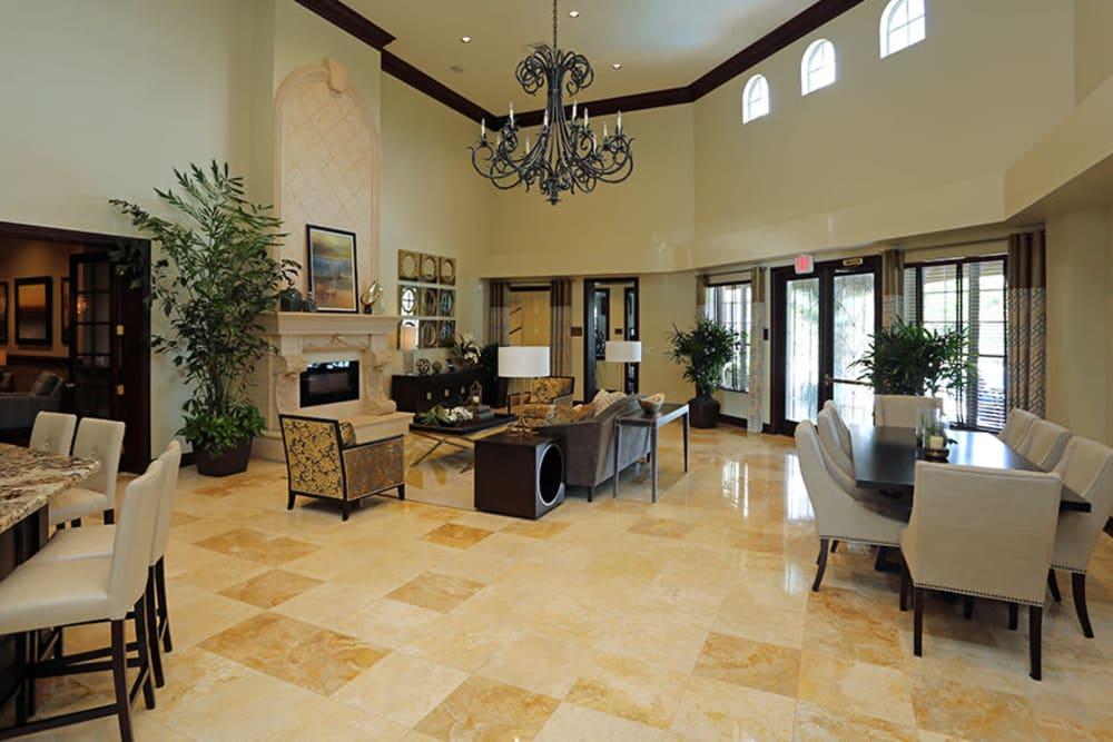 Lavish lobby at San Merano at Mirasol in Palm Beach Gardens