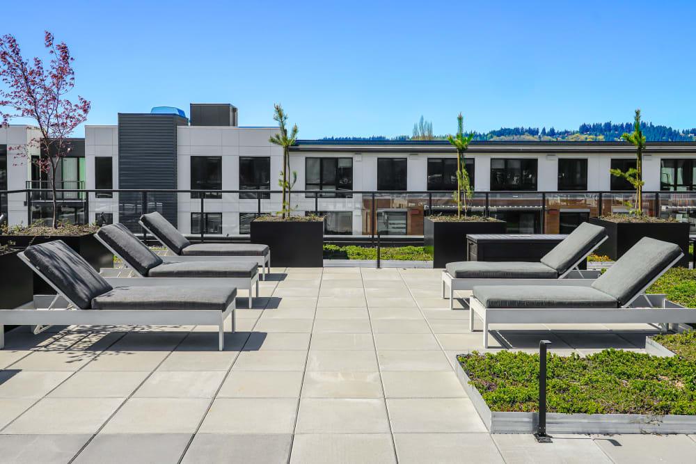 Outdoor Lounge Area at The Verge in Auburn, Washington