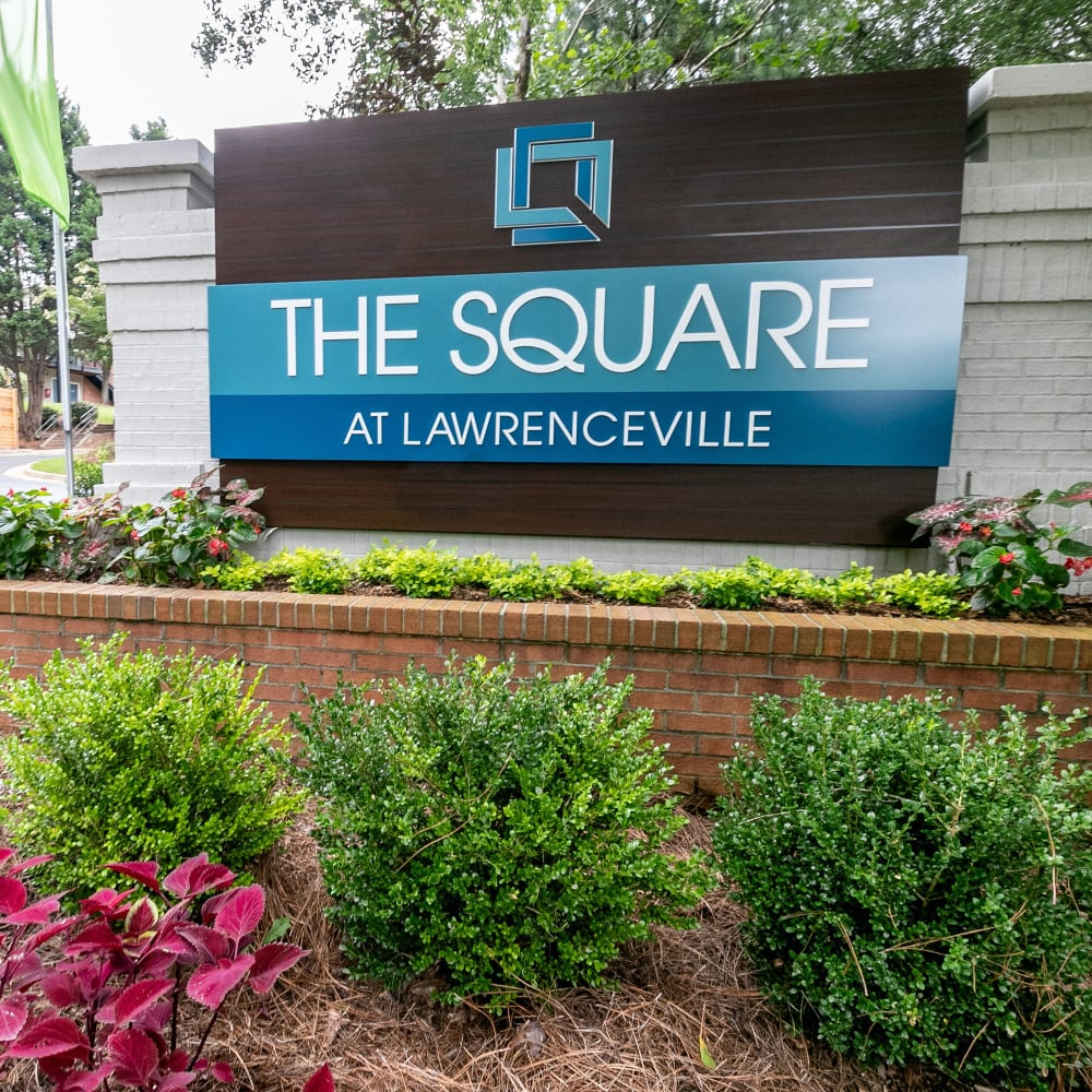 The Square at Lawrenceville Sign