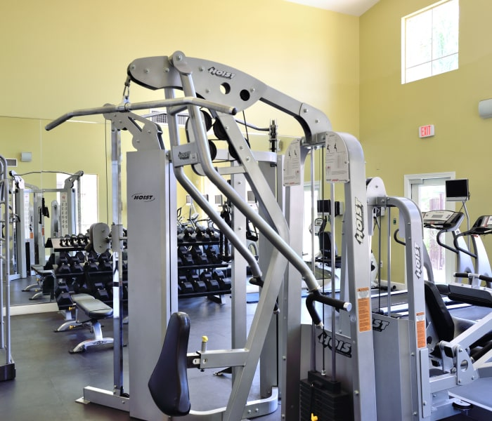 Well-equipped fitness center at Lumiere Chandler in Chandler, Arizona