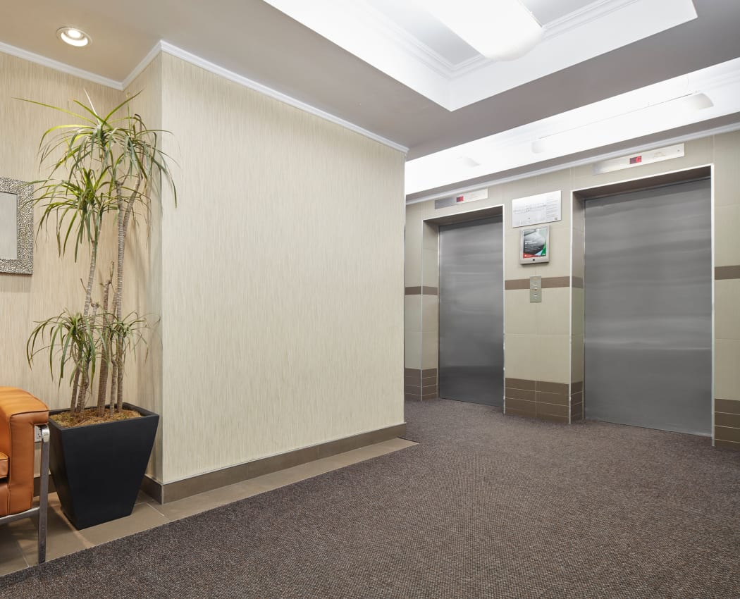 Elevator access at Richmond Hill Apartments in Richmond Hill, Ontario