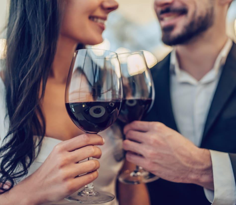 Resident couple out for a meal on date night near Veranda La Mesa in La Mesa, California