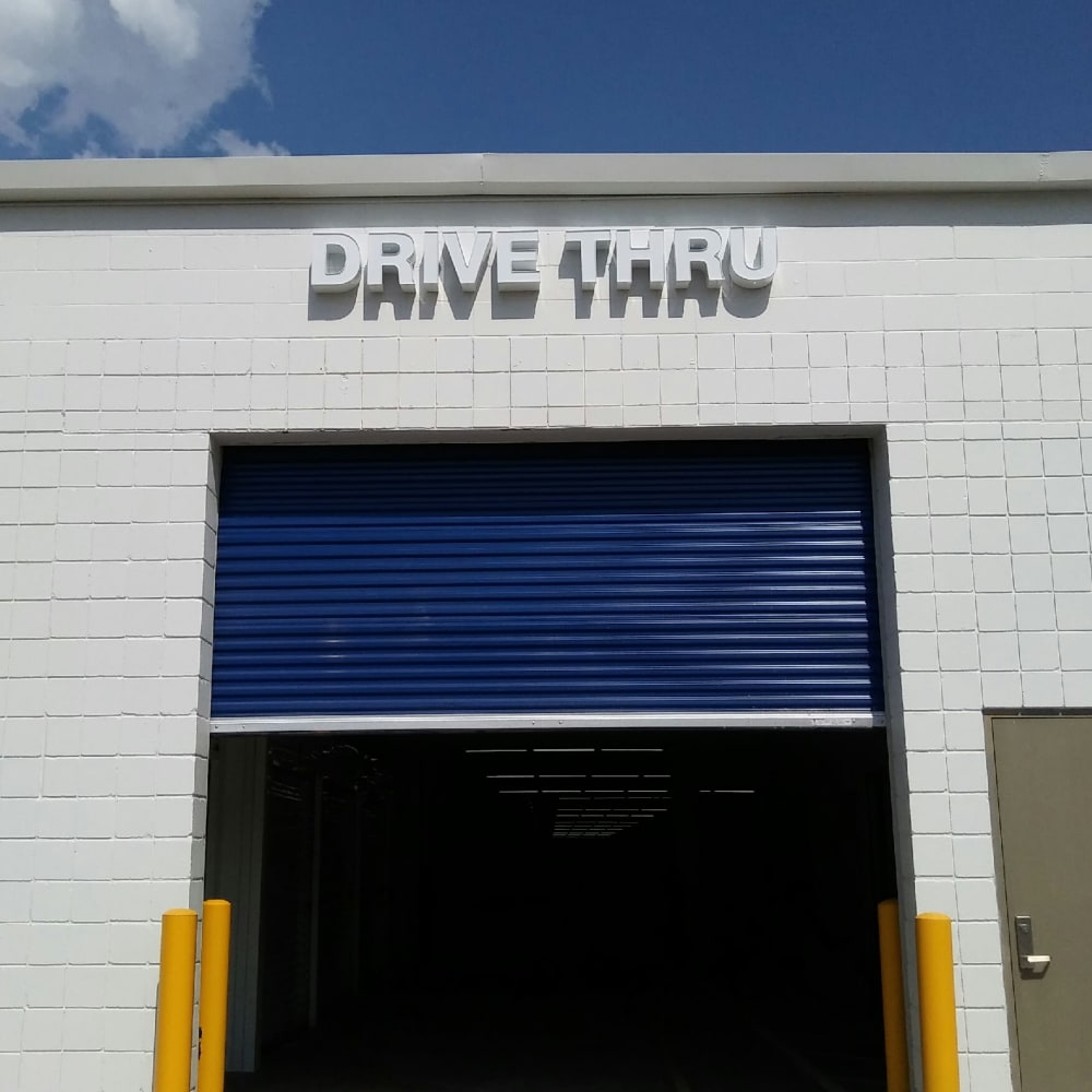 Drive thru self storage at Simply Stor-It Mitchell in Mitchell, South Dakota
