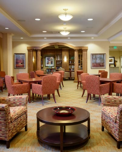 Community area at The Bellettini in Bellevue, Washington