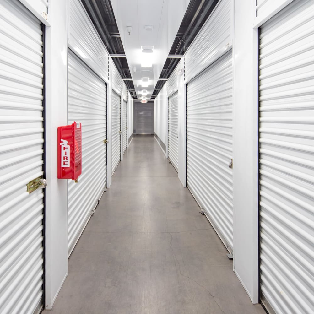 Climate controlled storage units at Trojan Storage in Roseville, California
