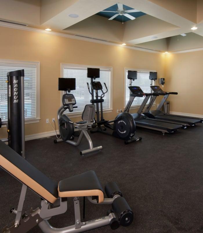 Quaint fitness center at Keys Lake Villas in Key Largo, Florida