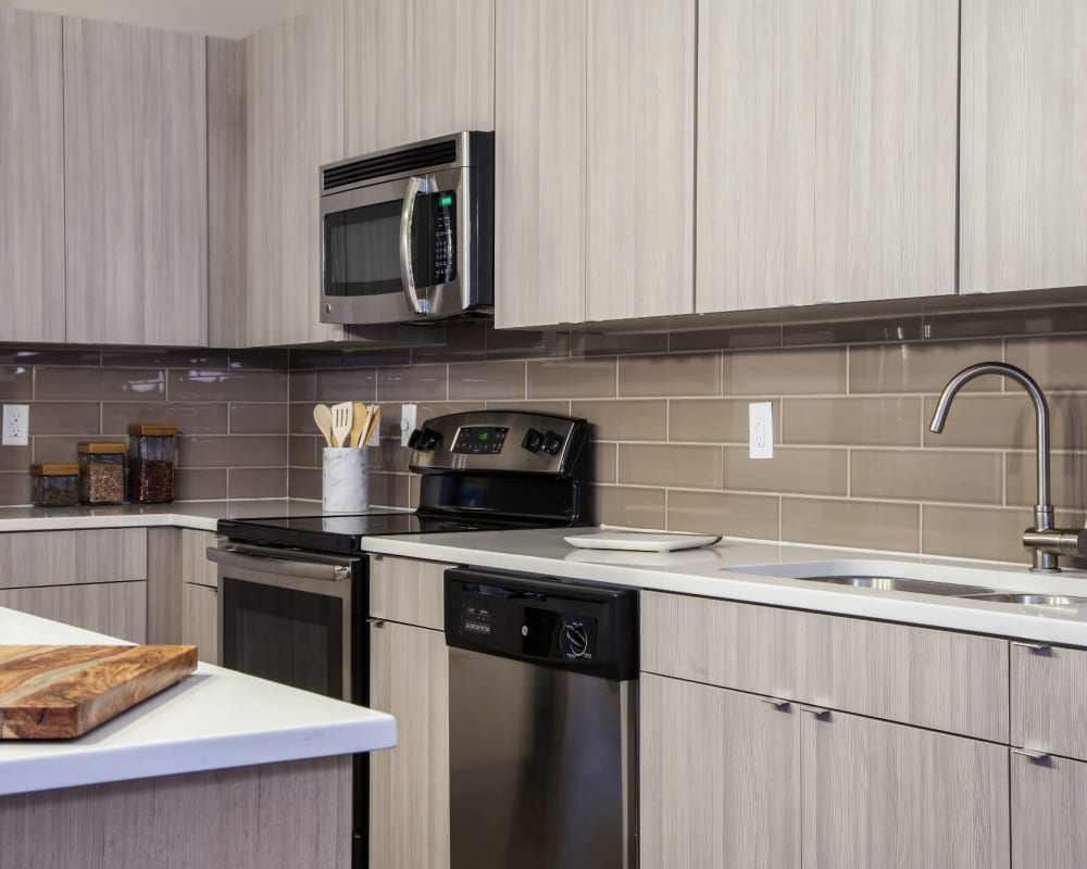 Our modern kitchen at The Paramount at South Market in New Orleans, Louisiana