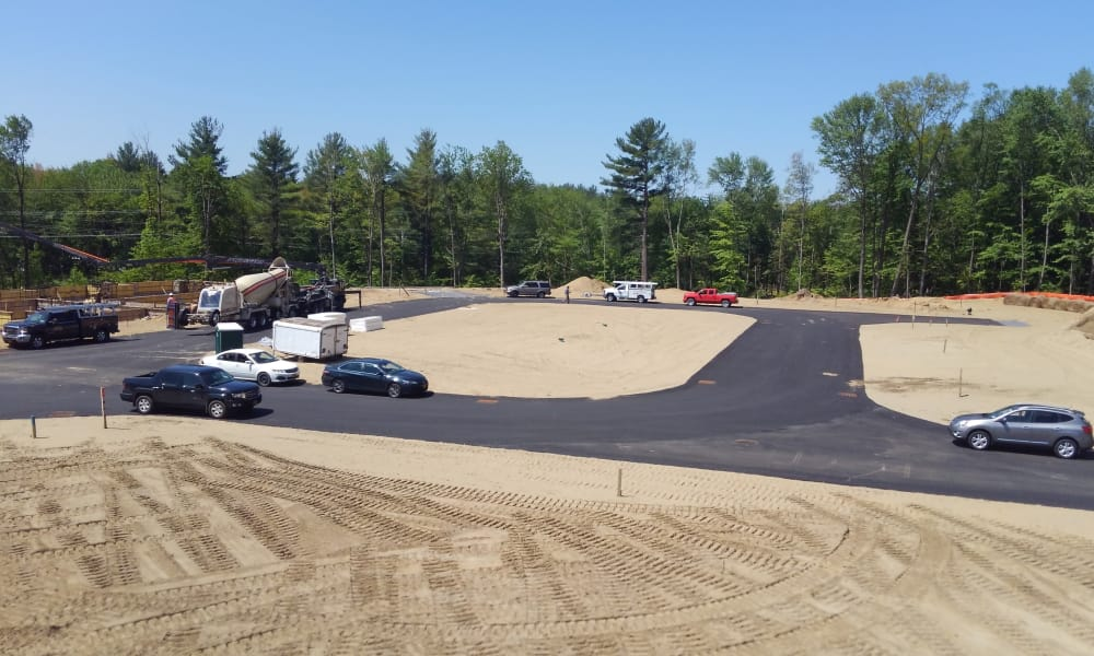 Main street under construction at Enclave 50 in Ballston Spa, New York