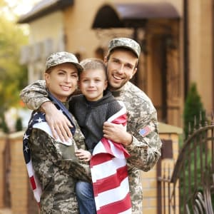 A military family in El Cajon, California