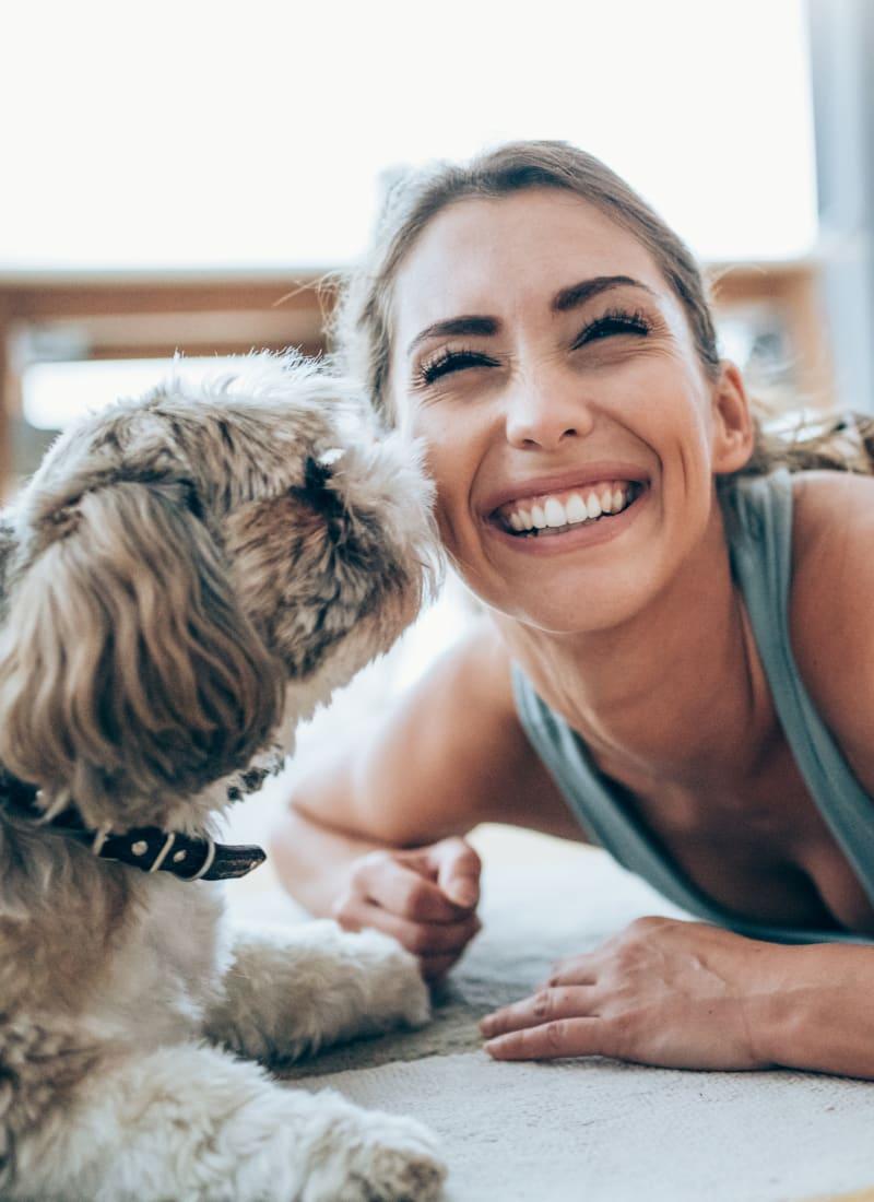 Two pets maximum per apartment at Regents West at 24th in Austin, Texas