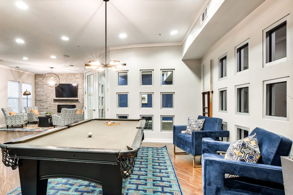 Pool Table in the Clubhouse at The Quarters at Towson Town Center in Towson, Maryland