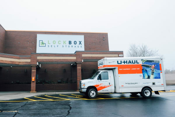Uhaul Truck at LockBox Self Storage in Winston-Salem, North Carolina
