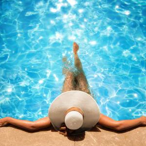 Heated Swimming Pool at The Aeronaut in Weymouth, Massachusetts