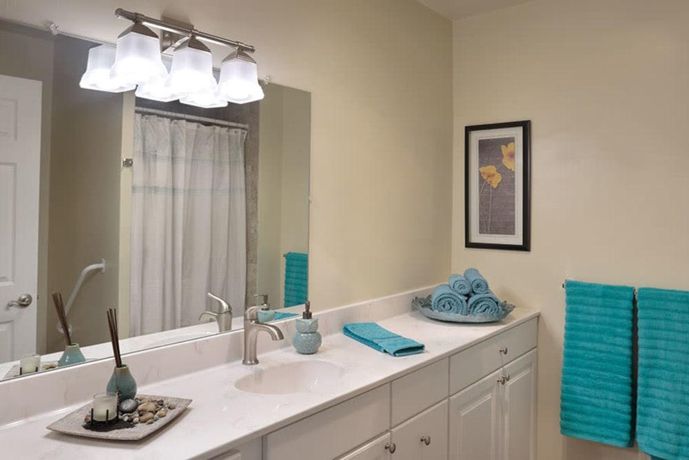 Spacious bathrooms at Monte Vista Village in Lemon Grove, California