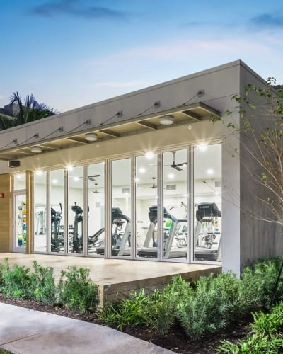 A look at the renovated gym at Axis at One Pine