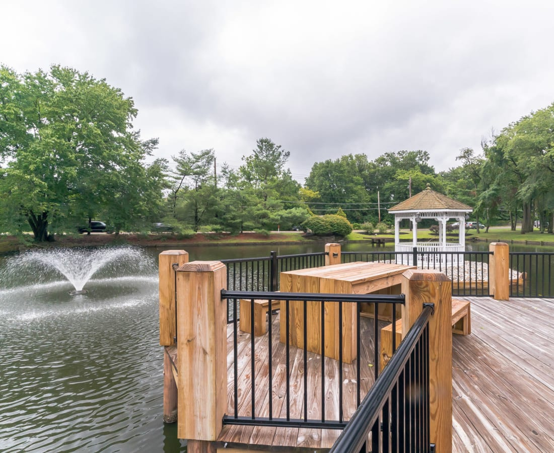 pond at Ramblewood Village Apartments in Mount Laurel, New Jersey