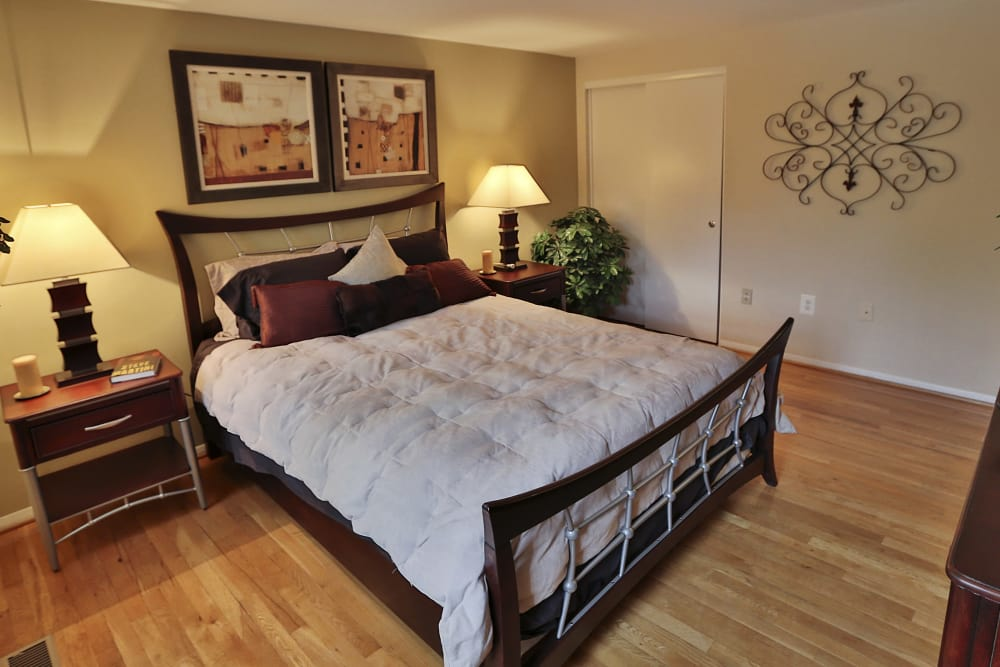 Cozy bedroom at The Orchards at Severn in Severn, Maryland