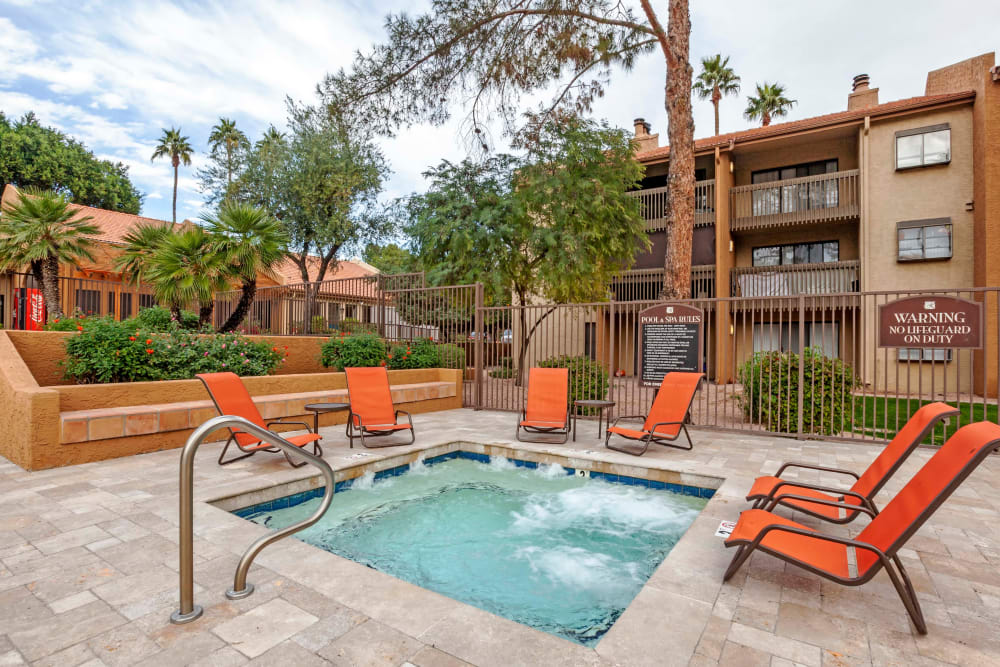 Luxury apartments with a swimming pool at Renaissance Apartment Homes