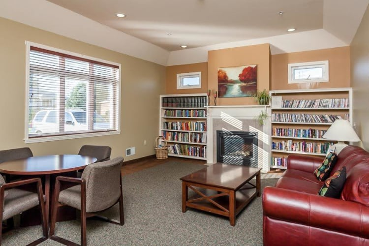 Comfy couch at CenterPointe Apartments and Townhomes home