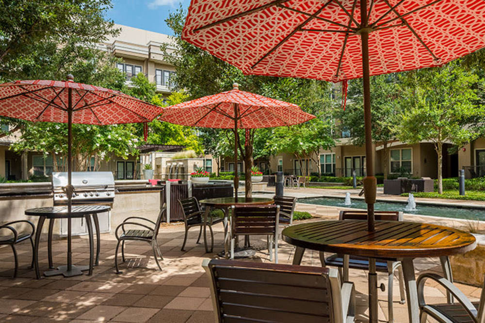 Outdoor sitting Addison Keller Springs in Addison, Texas.