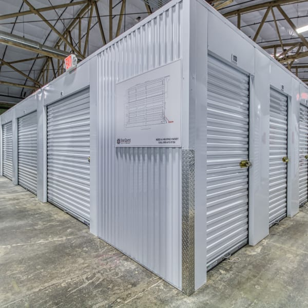 Climate controlled indoor storage units at StorQuest Self Storage in Modesto, California
