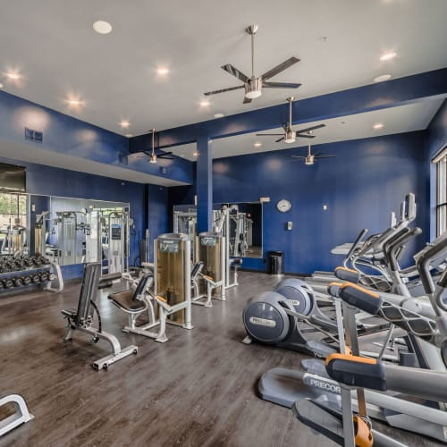 Top-notch fitness center at Olympus Boulevard in Frisco, Texas