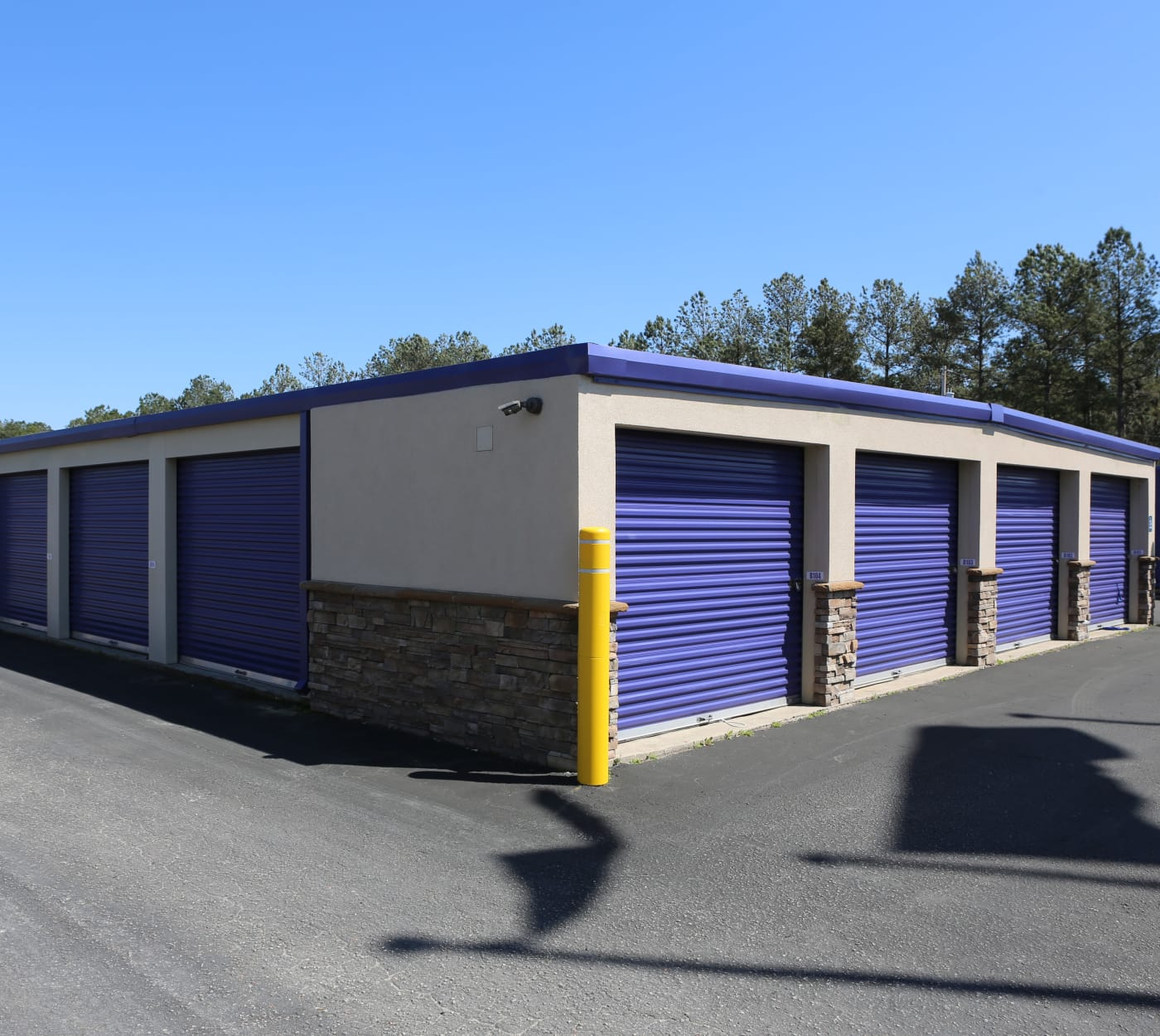 Ground-floor units at StoreSmart Self-Storage in Conway, South Carolina