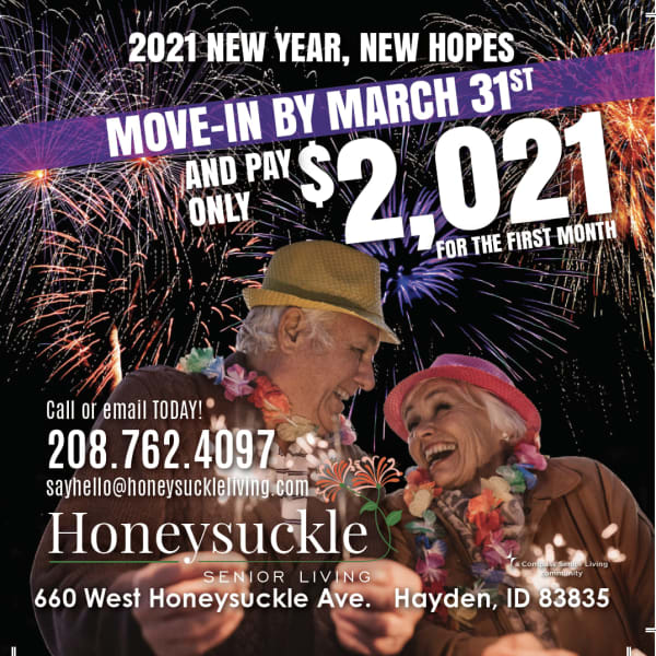 First Month Special at Honeysuckle Senior Living