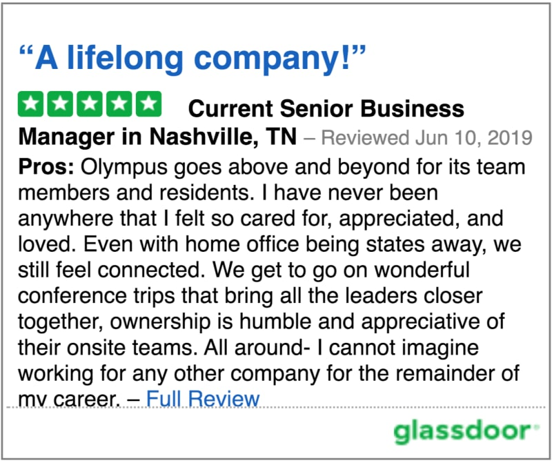 Glassdoor review 3 of Olympus Property in Fort Worth, Texas